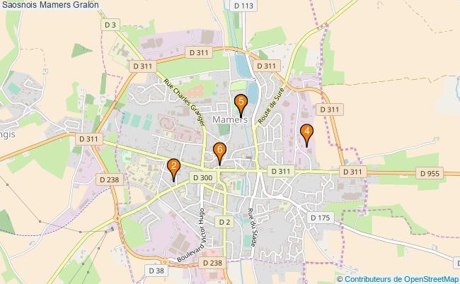 plan Saosnois Mamers Associations Saosnois Mamers : 6 associations