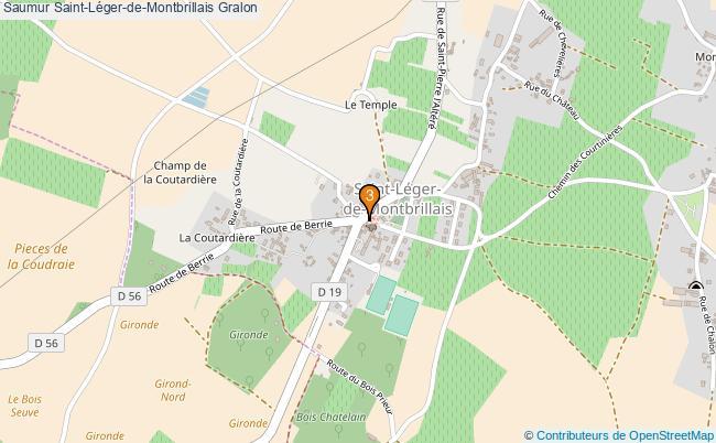 plan Saumur Saint-Léger-de-Montbrillais Associations Saumur Saint-Léger-de-Montbrillais : 3 associations