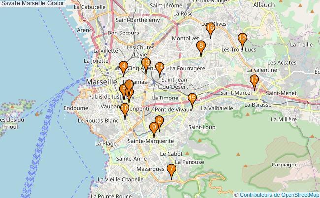plan Savate Marseille Associations Savate Marseille : 19 associations
