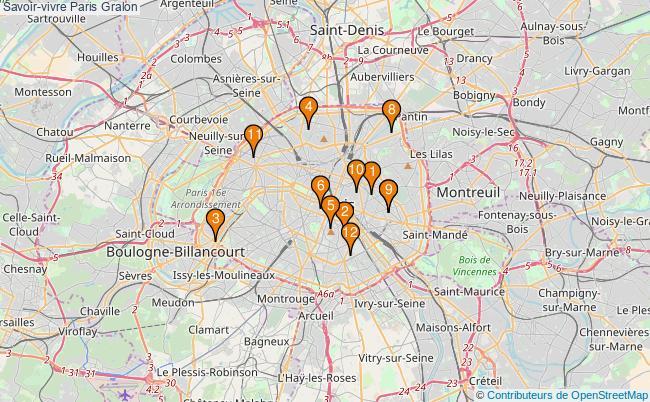 plan Savoir-vivre Paris Associations Savoir-vivre Paris : 13 associations