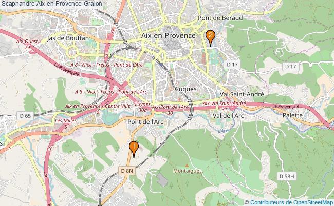 plan Scaphandre Aix en Provence Associations scaphandre Aix en Provence : 2 associations