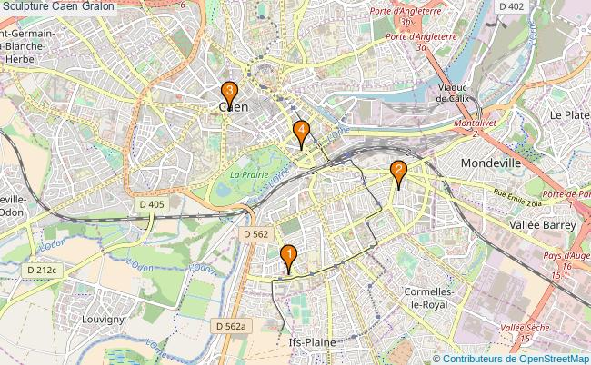 plan Sculpture Caen Associations sculpture Caen : 4 associations
