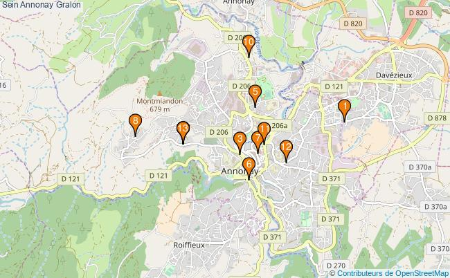 plan Sein Annonay Associations Sein Annonay : 13 associations