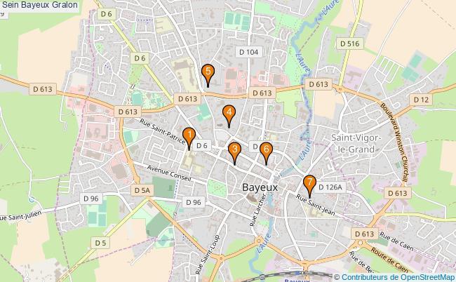 plan Sein Bayeux Associations Sein Bayeux : 8 associations