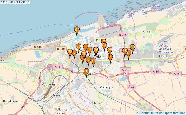 plan Sein Calais Associations Sein Calais : 69 associations