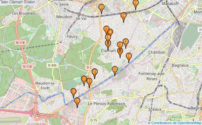 plan Sein Clamart Associations Sein Clamart : 24 associations