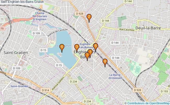 plan Sein Enghien-les-Bains Associations Sein Enghien-les-Bains : 8 associations