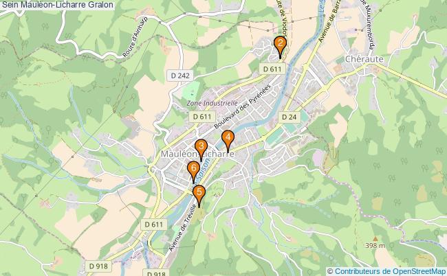 plan Sein Mauléon-Licharre Associations Sein Mauléon-Licharre : 6 associations