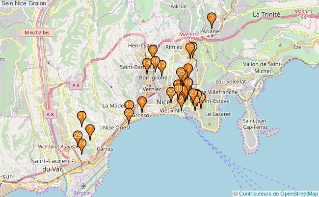plan Sein Nice Associations Sein Nice : 234 associations