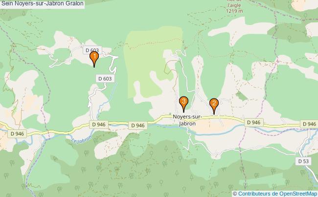 plan Sein Noyers-sur-Jabron Associations Sein Noyers-sur-Jabron : 3 associations