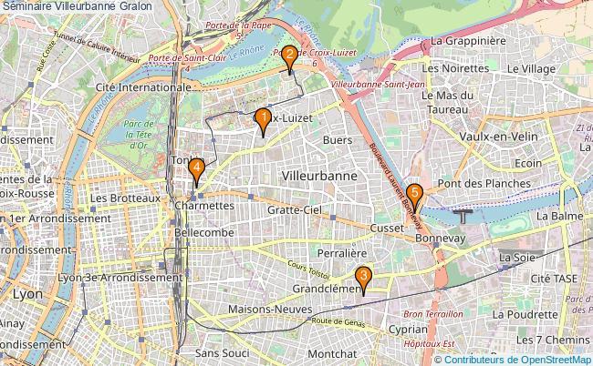 plan Séminaire Villeurbanne Associations séminaire Villeurbanne : 5 associations