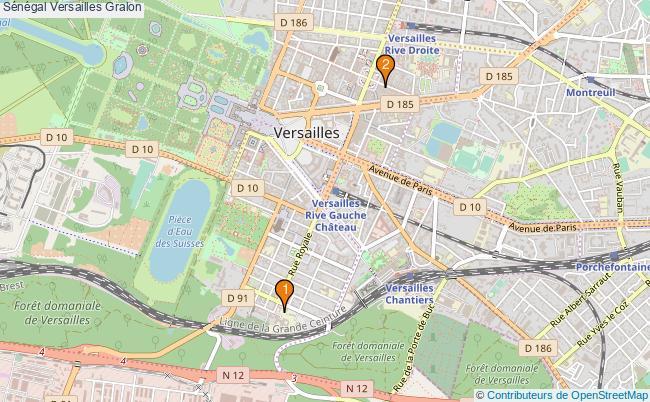 plan Sénégal Versailles Associations Sénégal Versailles : 2 associations