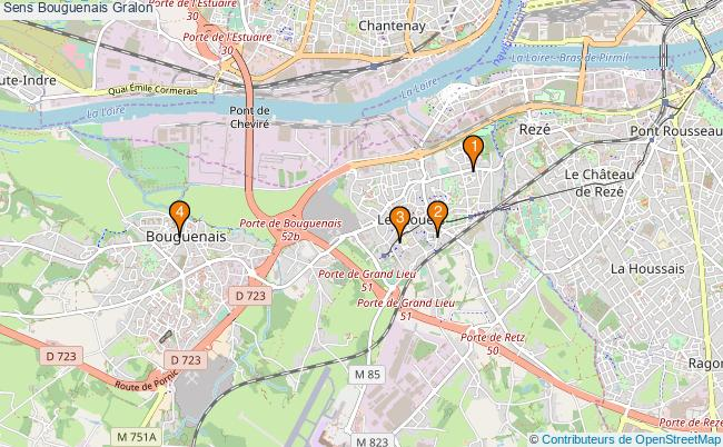 plan Sens Bouguenais Associations Sens Bouguenais : 4 associations