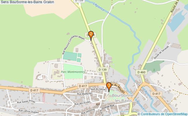 plan Sens Bourbonne-les-Bains Associations Sens Bourbonne-les-Bains : 3 associations