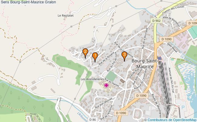 plan Sens Bourg-Saint-Maurice Associations Sens Bourg-Saint-Maurice : 3 associations