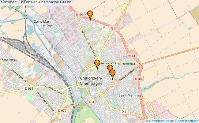 plan Sentiment Châlons-en-Champagne Associations Sentiment Châlons-en-Champagne : 4 associations
