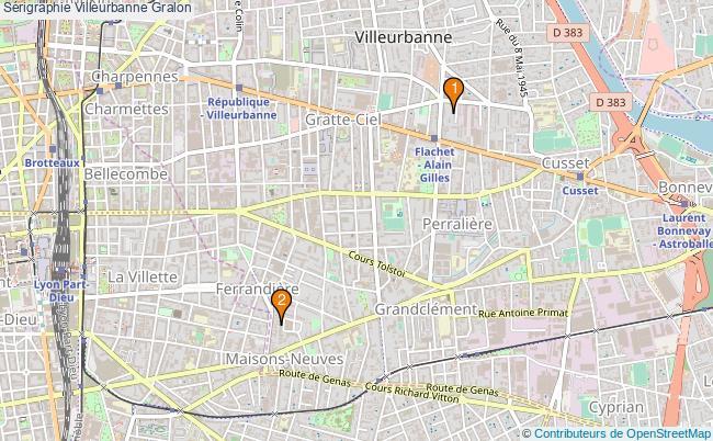 plan Sérigraphie Villeurbanne Associations sérigraphie Villeurbanne : 2 associations