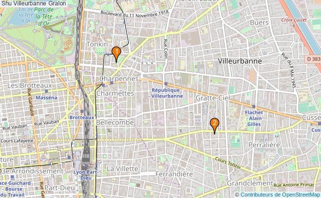 plan Shu Villeurbanne Associations shu Villeurbanne : 2 associations