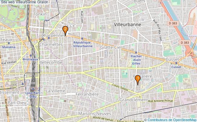plan Site web Villeurbanne Associations Site web Villeurbanne : 3 associations