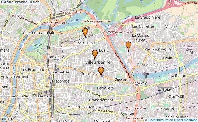 plan Ski Villeurbanne Associations Ski Villeurbanne : 5 associations