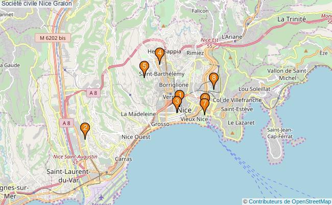 plan Société civile Nice Associations société civile Nice : 9 associations
