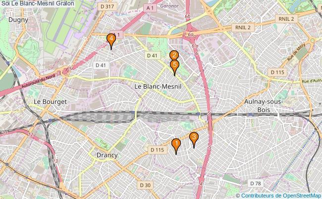 plan Soi Le Blanc-Mesnil Associations Soi Le Blanc-Mesnil : 5 associations