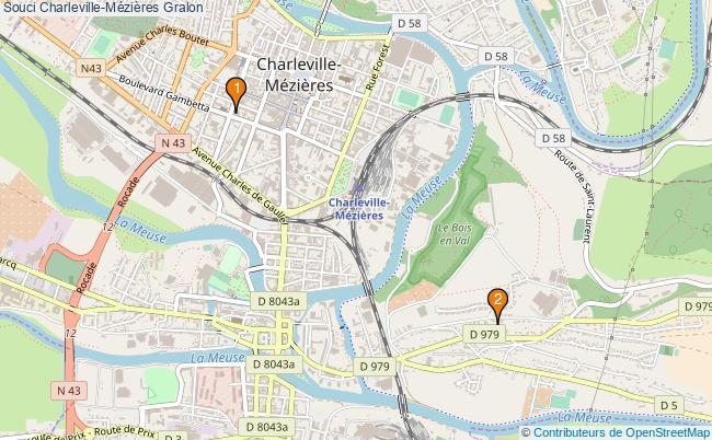 plan Souci Charleville-Mézières Associations Souci Charleville-Mézières : 2 associations