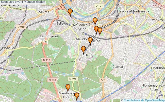 plan Spectacle vivant Meudon Associations spectacle vivant Meudon : 8 associations