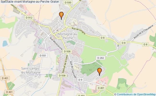 plan Spectacle vivant Mortagne-au-Perche Associations spectacle vivant Mortagne-au-Perche : 2 associations