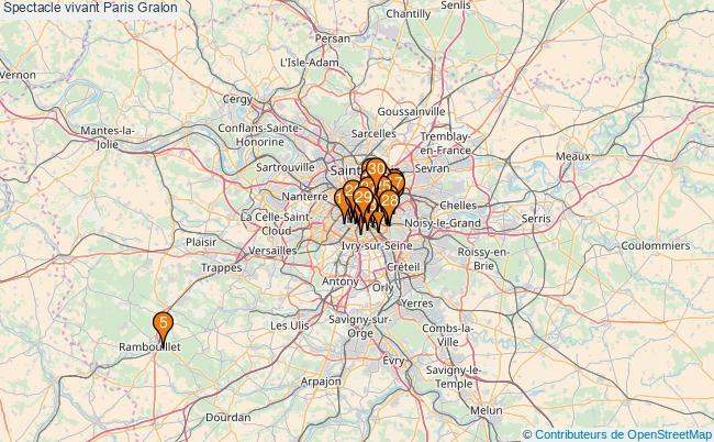 plan Spectacle vivant Paris Associations spectacle vivant Paris : 1255 associations