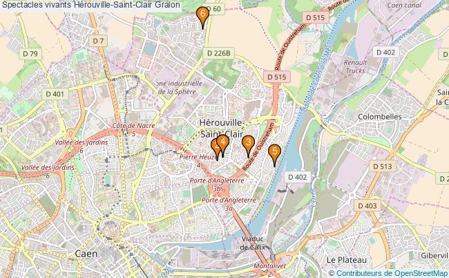 plan Spectacles vivants Hérouville-Saint-Clair Associations spectacles vivants Hérouville-Saint-Clair : 8 associations