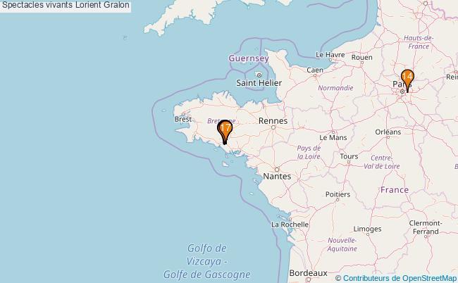 plan Spectacles vivants Lorient Associations spectacles vivants Lorient : 18 associations