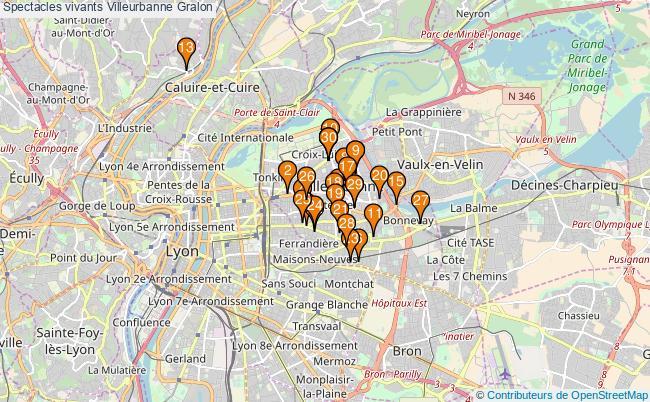 plan Spectacles vivants Villeurbanne Associations spectacles vivants Villeurbanne : 59 associations