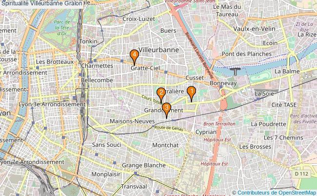 plan Spiritualité Villeurbanne Associations spiritualité Villeurbanne : 5 associations