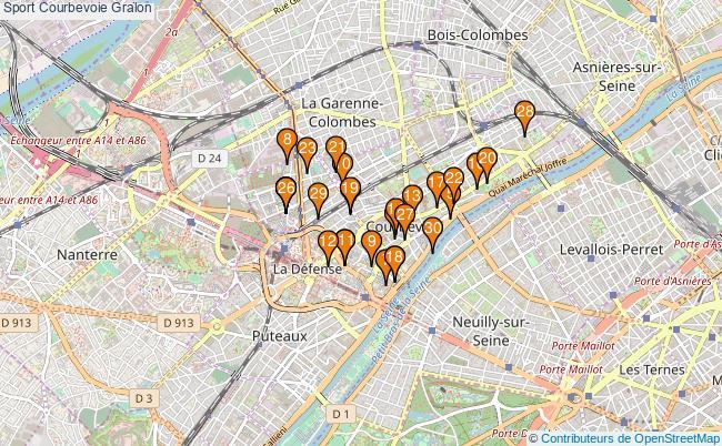 plan Sport Courbevoie Associations Sport Courbevoie : 37 associations