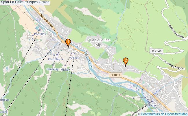 plan Sport La Salle les Alpes Associations Sport La Salle les Alpes : 2 associations