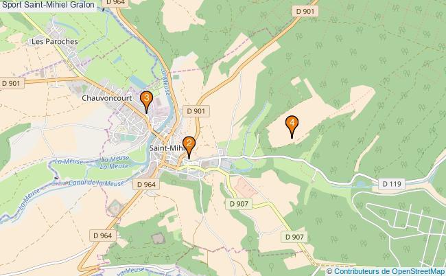 plan Sport Saint-Mihiel Associations Sport Saint-Mihiel : 4 associations