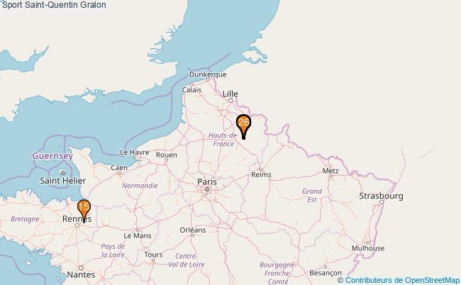 plan Sport Saint-Quentin Associations Sport Saint-Quentin : 26 associations