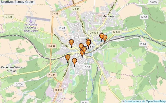 plan Sportives Bernay Associations Sportives Bernay : 19 associations
