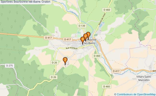 plan Sportives Bourbonne-les-Bains Associations Sportives Bourbonne-les-Bains : 4 associations
