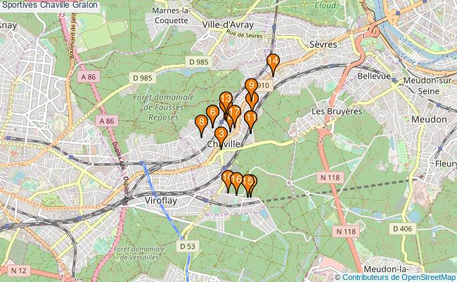 plan Sportives Chaville Associations Sportives Chaville : 18 associations