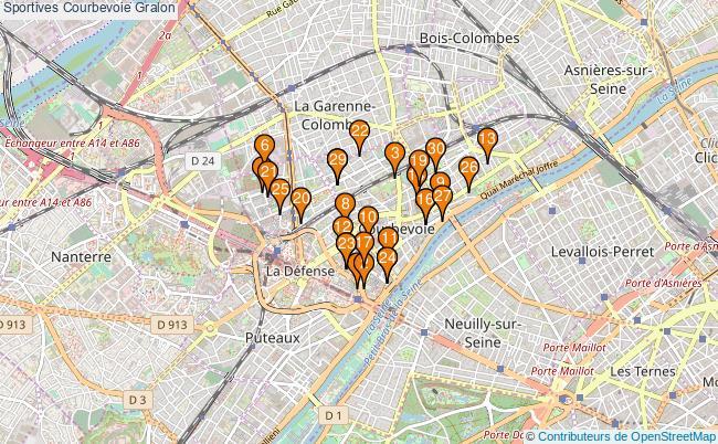 plan Sportives Courbevoie Associations Sportives Courbevoie : 52 associations