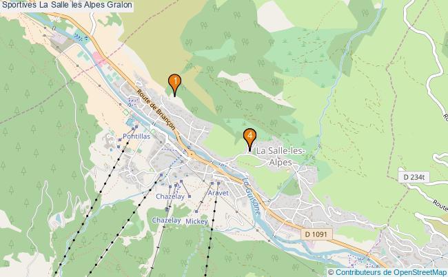 plan Sportives La Salle les Alpes Associations Sportives La Salle les Alpes : 4 associations