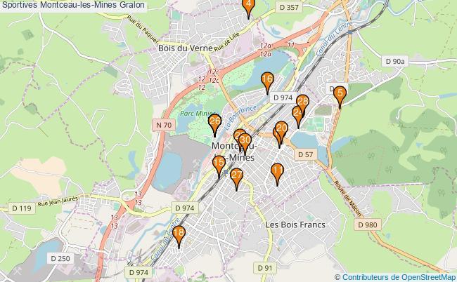 plan Sportives Montceau-les-Mines Associations Sportives Montceau-les-Mines : 35 associations