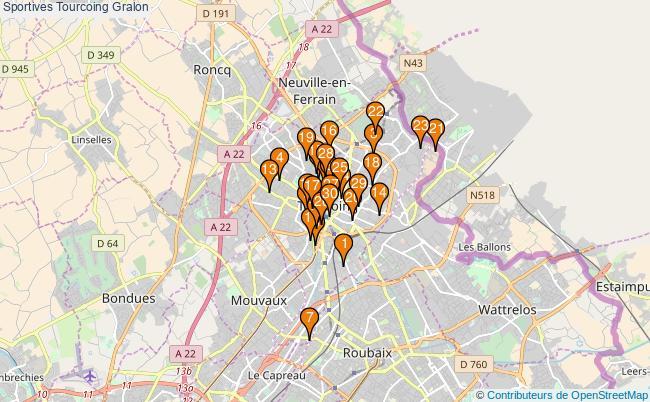 plan Sportives Tourcoing Associations Sportives Tourcoing : 80 associations