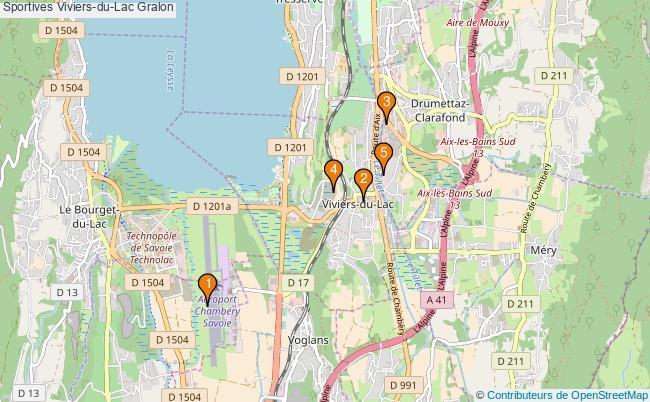 plan Sportives Viviers-du-Lac Associations Sportives Viviers-du-Lac : 5 associations
