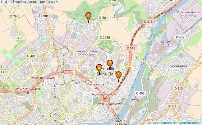 plan SUD Hérouville-Saint-Clair Associations SUD Hérouville-Saint-Clair : 4 associations