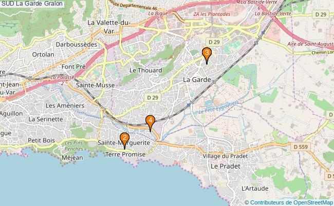 plan SUD La Garde Associations SUD La Garde : 4 associations