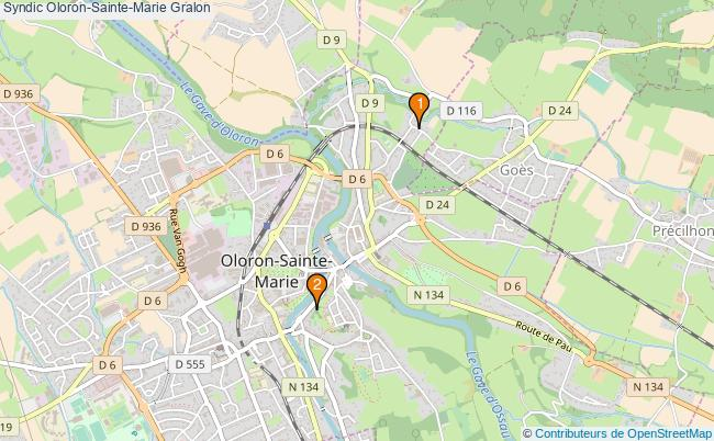 plan Syndic Oloron-Sainte-Marie Associations syndic Oloron-Sainte-Marie : 2 associations