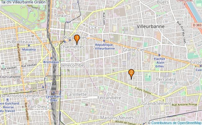 plan Tai chi Villeurbanne Associations tai chi Villeurbanne : 2 associations